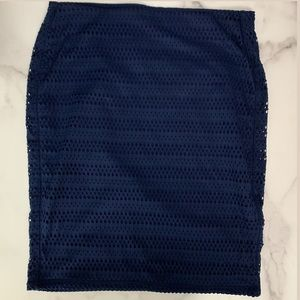 Old Navy Blue Navy Eyelet Pencil Skirt SP C3 0091